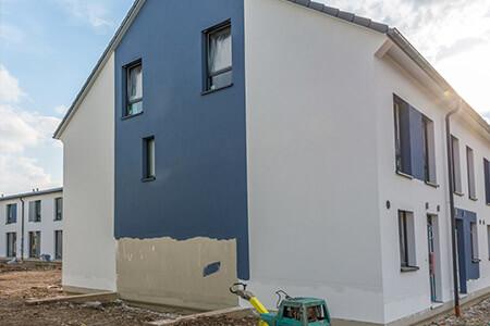 Fassadenanstrich am Einfamilienhaus in Hannover und Umgebung von Firma Nerlich GmbH