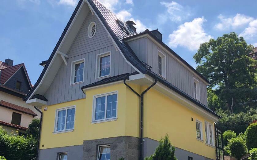 Fassadenanstrich mit Kunstharz Fassadenfarbe von Imosil in Hameln