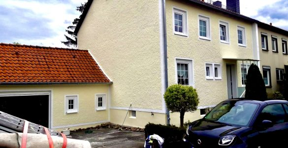 Fassadenanstrich in Garbsen bei Hannover nach dem Anstrich